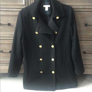 Black wool women Jacket